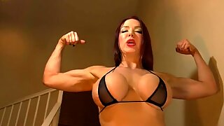 Muscle babe Needs a strenuous boy - Not You!