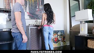 FamilyStrokes - big-chested aunt seduces step-Nephew Staying Over