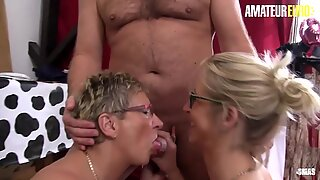 AMATEUR EURO - GILF Tailor And Her Busty Assistant Knows How To Make A Client Happy (Ziska &amp_ Erna)